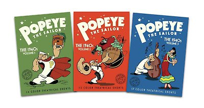Popeye The Sailor DVDs Complete Sets